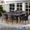 Well Furnir T-085 Environment-Friendly 7 Piece Rectangle Rattan Wicker Dining Sets