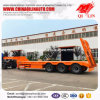 3 Axles Low Bed Truck Trailer with Manual Rear Ladder