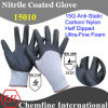 15g Anti-Static Carbon/ Nylon Knitted Glove with Ultra-Fine Nitrile Foam Coating
