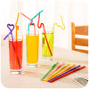 Eco-Friendly PP/PVC Material Colorful Packed Flexible Drinking Straw