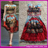 2014 New Silk Flower Print Girls Party Dresses Beautiful Casual Woman Dress (FDS004)