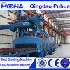 The Newest Q69 Series Steel Plate Shot Blast Clean up Machine/Wheel Blasting Machine for Steel Pipe/Surface Derusting
