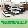 Leather Corner Modern Divan Wooden Sofa
