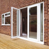 Plastic Frame Security Glass Fire Main Door, French Door
