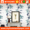 China Cheap Price Ink Painting Beautiful Flower PVC Wallpaper for Walls