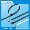 Black Regular Stainless Steel Ball Lock Cable Ties