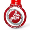 Custom Red Metal Spinning Marathon Sport Medal