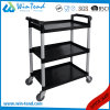 3 Tier All Color Collection Clean Plastic Trolley Baskets Cart with Wheels