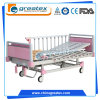 Pink Children Bed 2 Functions Manual Bed with 10-Crank Al-Alloy Handrails (BM502)