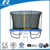 7X10FT Rectangle Trampoline with Safety Net (fiberglass poles at top)