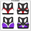 Fashionable Custom Made Mesh Design Sports Bra