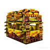 Golden Color Printed Corrugated Board Quarter Pallet Display for Chocolates