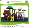 Kaiqi Medium Sized Forest Treehouse Themed Children′s Playground with Slide (KQ20094A)