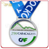 Die Casting Zinc Alloy Sport Medal with Printed Lanyard