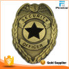 Antique Gold Custom Security Officer Lapel Pin