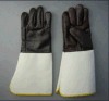 Furniture Leather Welding Glove with Trumpet Cuff-4055