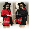 Wool Spinning Fashion Red Rayon Scarf for Lady