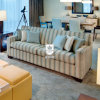 Fresh Greece Blue Sofa Furniture Living Room for Hotel Room