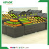 Supermarket Wooden Vegetable and Fruit Display Stand