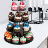 Modern Design Acrylic Wedding Cake Stand Cupcake Holder