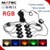 China Deck Light Rock Light 12V 24V RGB 5 Colors Blue Red Green Yellow Warm White Color Change Marine LED Deck Lighting