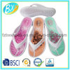 Hot Sale Women Sandal with Flower Printing