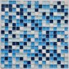 2017 New! Blue Square Mosaics Glass Tiles