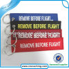 Cheap Type Remove Before Flight Fabric Material Embroidery Keychain