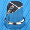 18 Teeth Chrome Plated Aluminum Potentiometer Knob