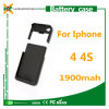 1900mAh Mobile Phone Charger Battery Case for iPhone 4 4s