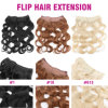 Brazilian Body Wave Flip in Hair Extensions Human Hair