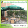 Wooden Poles Foldable Garden Beach Umbrella with Pulley System