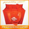 Red Custom Print 6 Bottle Wine Bag (BLF-NW134)