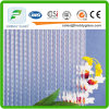 3mm, 4mm, 5mm, 6m, 8mm Glue Chip Clear Patterned Glass for Door Windows