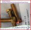 DIN931 DIN933 Yellow Zinc-Plated Yzp Hexagon Full Thread Head Bolt