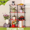 DIY Portable Corner Steel Shelving Unit Wire Storage Shelves
