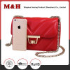 Shenzhen Supplier Portable Metal Chain PU Leather Ladies Handbag
