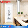 Insulating Glass Building Material Wood Grain Bathroom Door