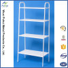 4 Layers Slanted White Home Storage Shelf