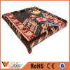 Multi Flower Design Warm Raschel Blankets for Home Textile
