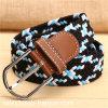 Colorful Knit Polyester Elastic Belt for Unisex