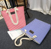 Stripe Canvas Leisure Bags for Lady, Simple Style Stripe Tote Bags Fly- CB0069