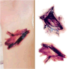 Halloween Fake Scab Bloody Waterproof Temporary Tattoo Sticker