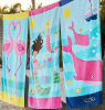 100% Cotton Velevt Beach Towel (BC-BT1014)