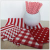 1/4 Folding Eco-Friendly Party Red Napkin with Color Printed