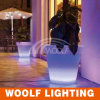LED Lighted Outdoor Christmas Decor Flower Pots