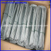 6′′x1′′x6′′ Black / Galvanized Square Top U Type Weed Mat Pin