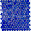 Hexagon Blue Glass Marble Mosaic Tile