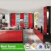 Popular Lacquer&MDF Red Kitchen Cabinet Glass Doors