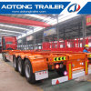 Low Price Skeleton Flatbed Container Semi Trailer for Sale